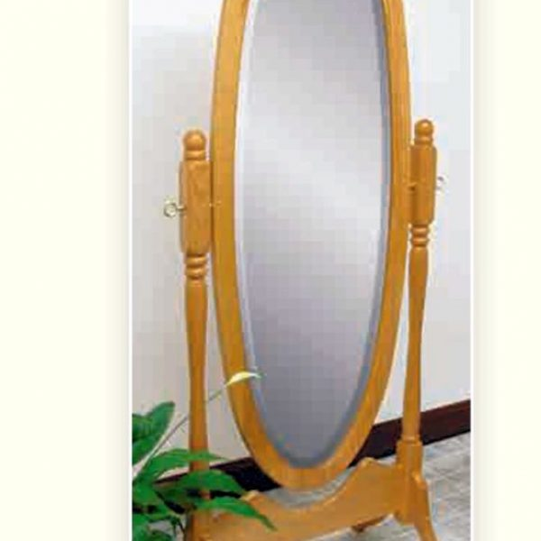 Antique Oval Cheval Mirror #1001